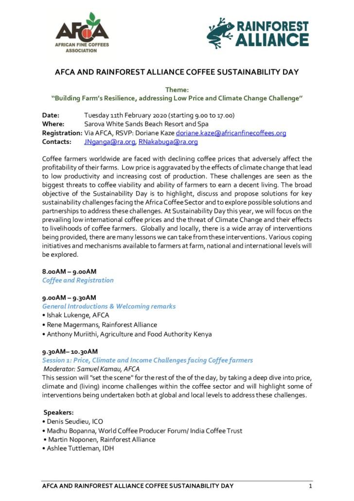 thumbnail of AFCA Sustainability Day 2020 – Program 200117