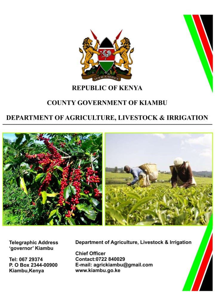 thumbnail of Agriculture Department Kiambu County Profile pg 1